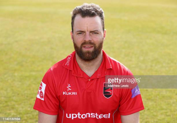 Arron Lilley of Leicestershire CCC pictured during the Leicestershire CCC Photocall at Grace Road on April 03 2019 in Leicester England
