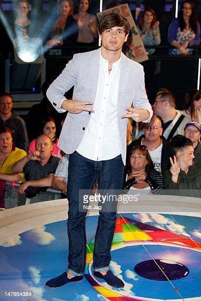 Arron Lowe is the fifth housemate to be evicted from the Big Brother house 2012 at Elstree Studios on July 6 2012 in Borehamwood England