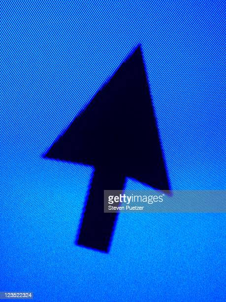 Arrow against blue background