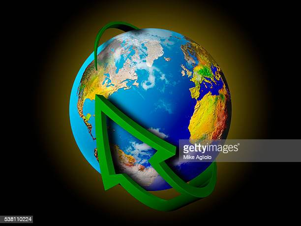 arrow around the world - mike agliolo stock photos and pictures