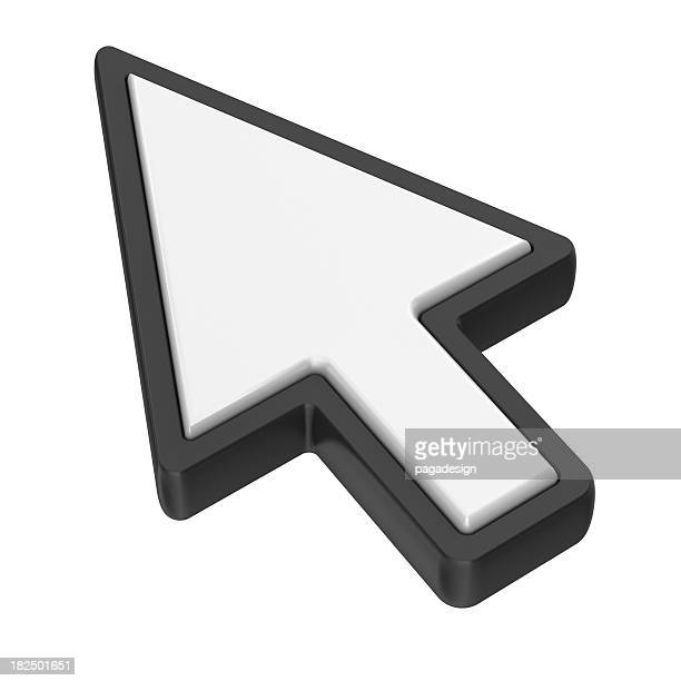 arrow cursor - isometric projection stock photos and pictures