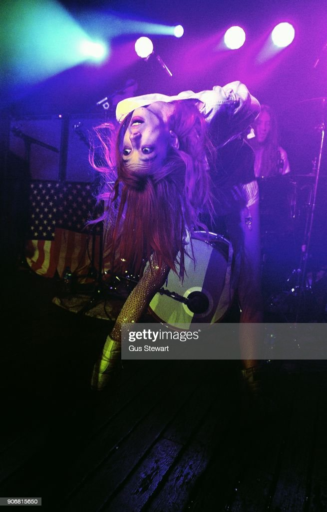 Arrow de Wilde of Starcrawler performs at Omeara London on January 18, 2018 in London, England.