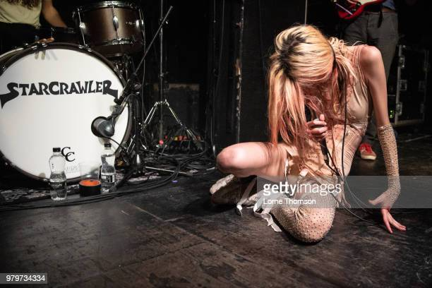 Arrow de Wilde of Starcrawler performs at The Garage on June 20 2018 in London England