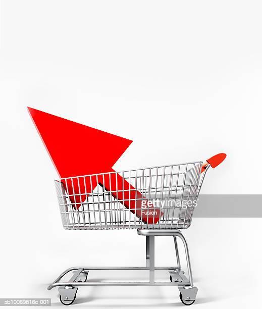 Arrow in shopping cart