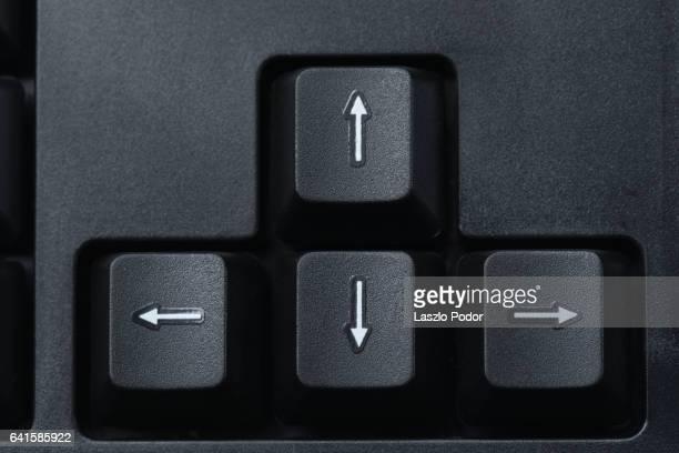 Arrow keys on a keyboard