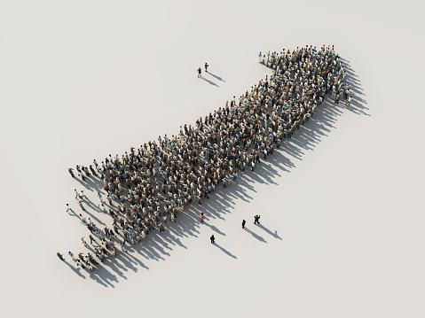 arrow of crowds 490580742