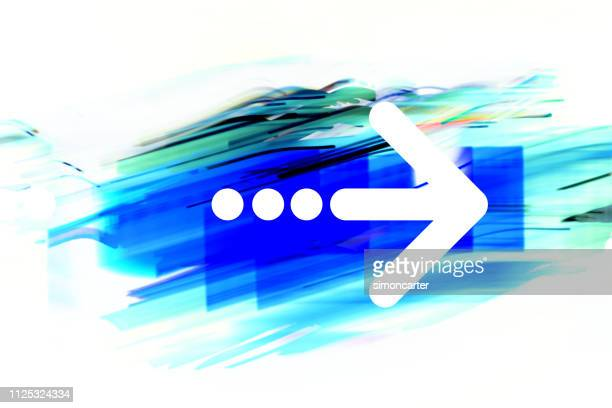Arrow on abstract graphic background