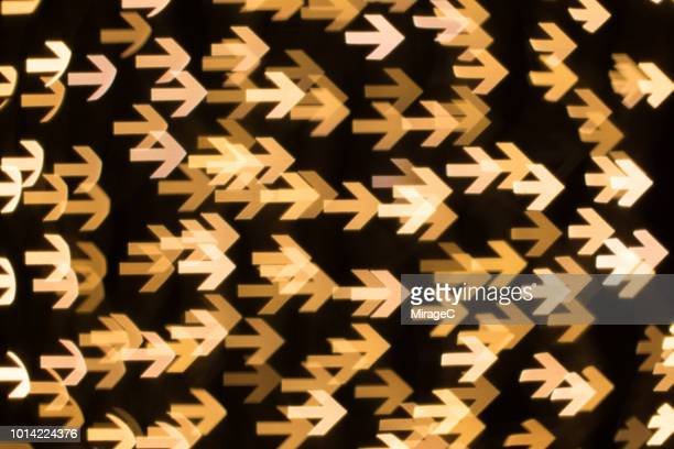 Arrow Shape Bokeh Backdrop