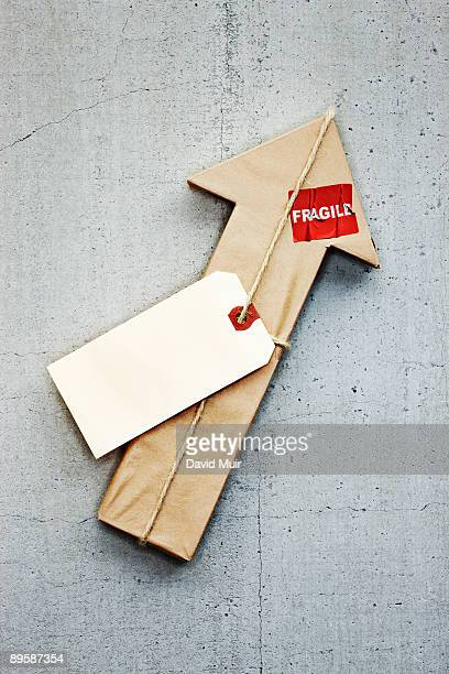arrow shape wrapped in paper