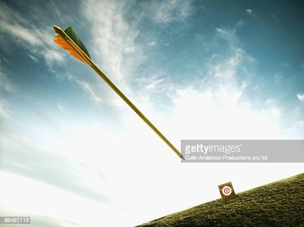 Arrow shot at target