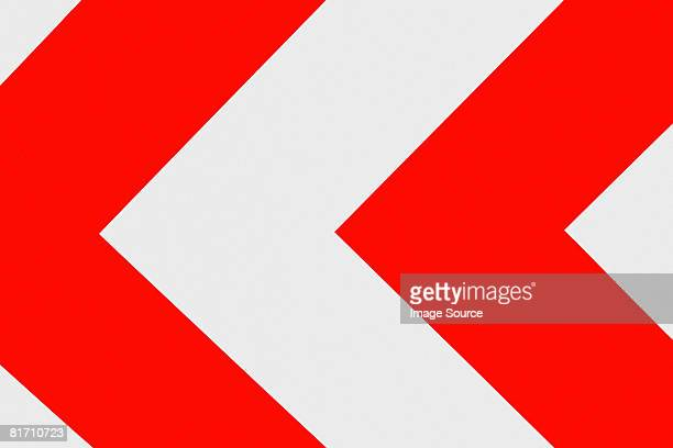 arrow sign - chevron road sign stock pictures, royalty-free photos & images