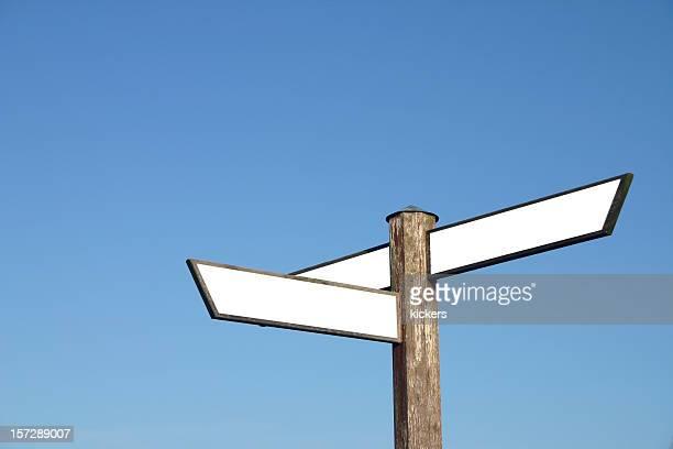 矢印サインのテキストのコピースペース付き - トレイル表示 ストックフォトと画像