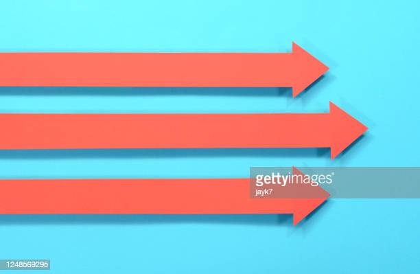 arrow signs - three objects stock pictures, royalty-free photos & images
