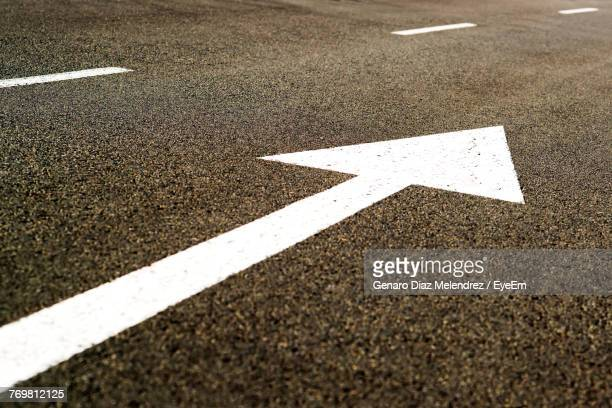 Arrow Symbol On Road In City