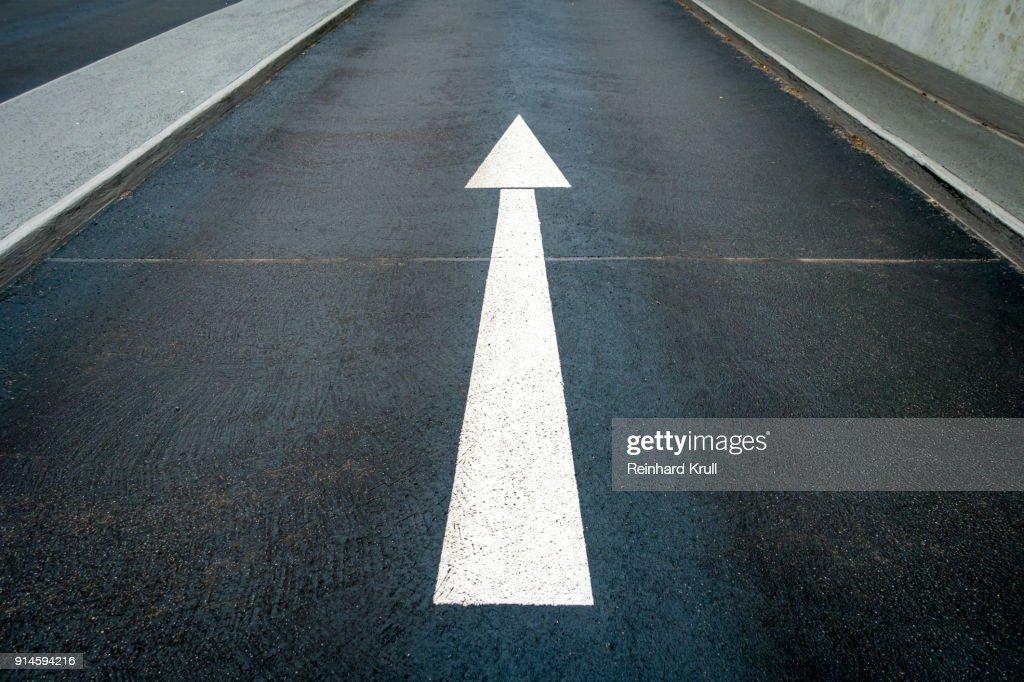 Arrow Symbol On Road : Stock Photo