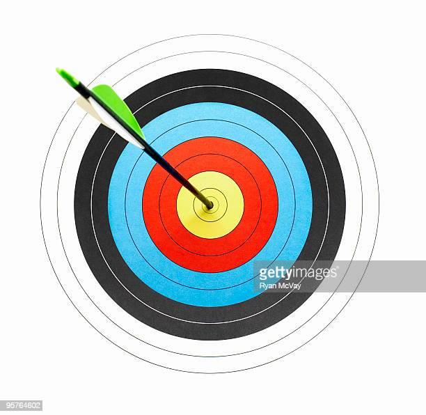 arrow through the center of a bullseye