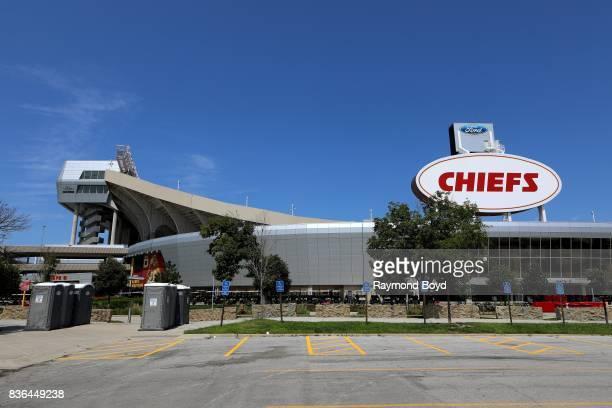 Arrowhead Stadium home of the Kansas City Chiefs football team in Kansas City Missouri on August 12 2017