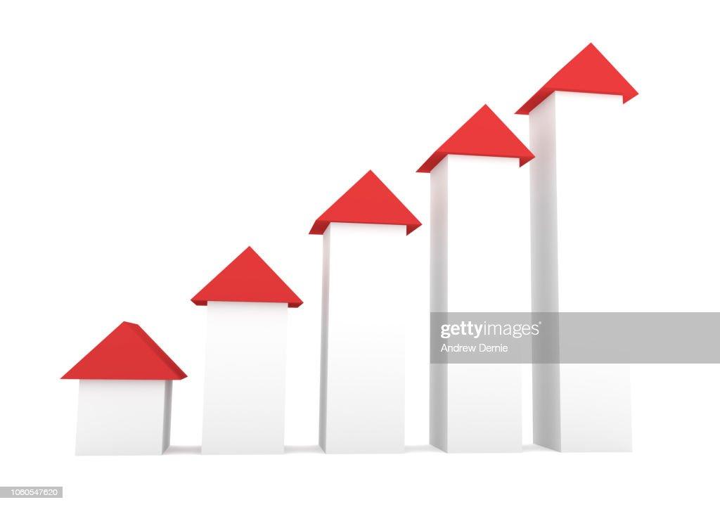 3D arrows illustrating growth : Stock Photo