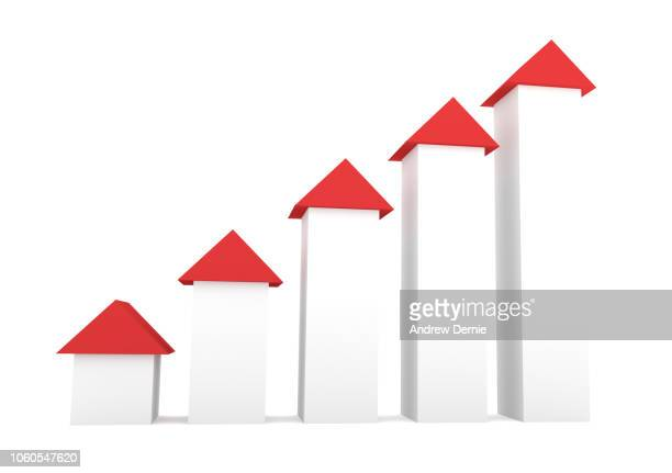 3D arrows illustrating growth