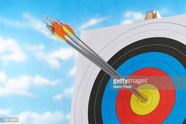 Arrows in bullseye of target