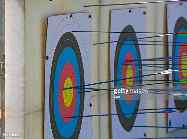 Arrows in centre of target (practice)