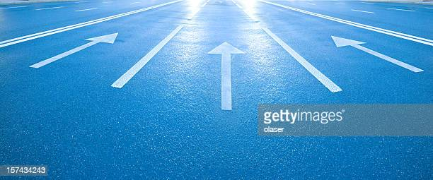 arrows into the bright light / future - following arrows stock pictures, royalty-free photos & images