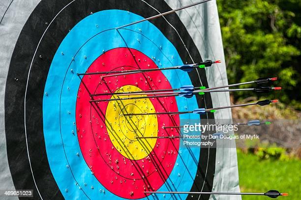Arrows on a target