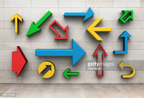 arrows pointing in different directions - guidance stock pictures, royalty-free photos & images