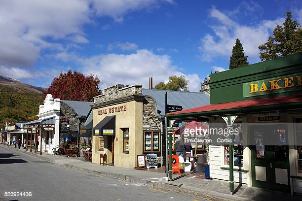 Arrowtown High Street in Autumn Arrowtown is the much visited historic 4season southern hemisphere holiday destination located only 20 minutes drive...