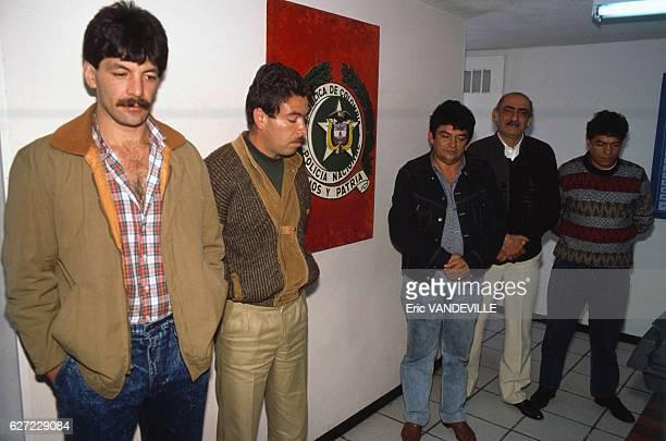 Arrêtés par la police colombienne Armando Bernal Acosta Norberto Murillo Chalarca Pedro Zambrano Delgado Luis Alfredo Gonzalez Chacon et Jubiz...