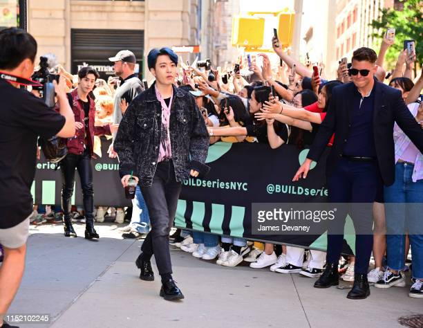 Ars of GOT7 is seen outside the Build Studio on June 26, 2019 in New York City.