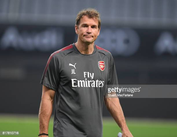 Arsenal 1st team coach Jens Lehmann during a training session at the Shanghai Stadium on July 18 2017 in Shanghai China