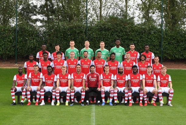 GBR: Arsenal 1st Team Squad Shoot 2021-22