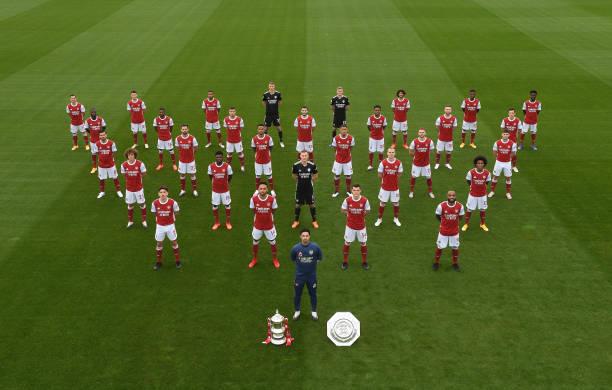 GBR: Arsenal 1st Team Squad Photo Season 2020/21