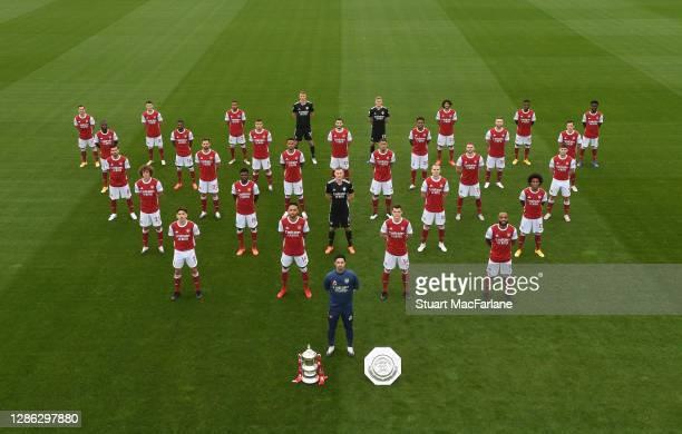 Arsenal 1st team squad: Cedric Soares, Nicolas Pepe, Dani Ceballos, David Luiz, Hector Bellerin, Gabriel Martinelli, Ainsley Maitland-Niles, Pablo...