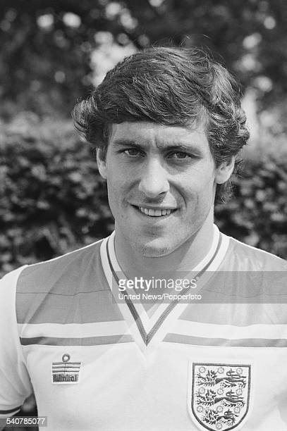 Arsenal and England footballer Kenny Sansom pictured at a press conference held on 8th June 1982 to announce the England squad for the upcoming World...