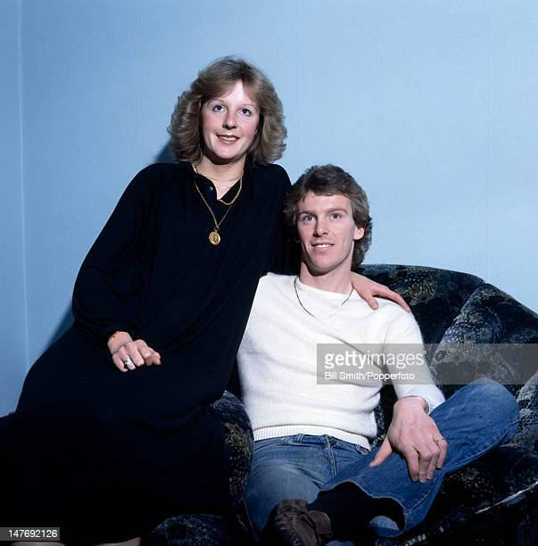Arsenal and England midfielder Graham Rix at home in London with his wife Gill circa 1982