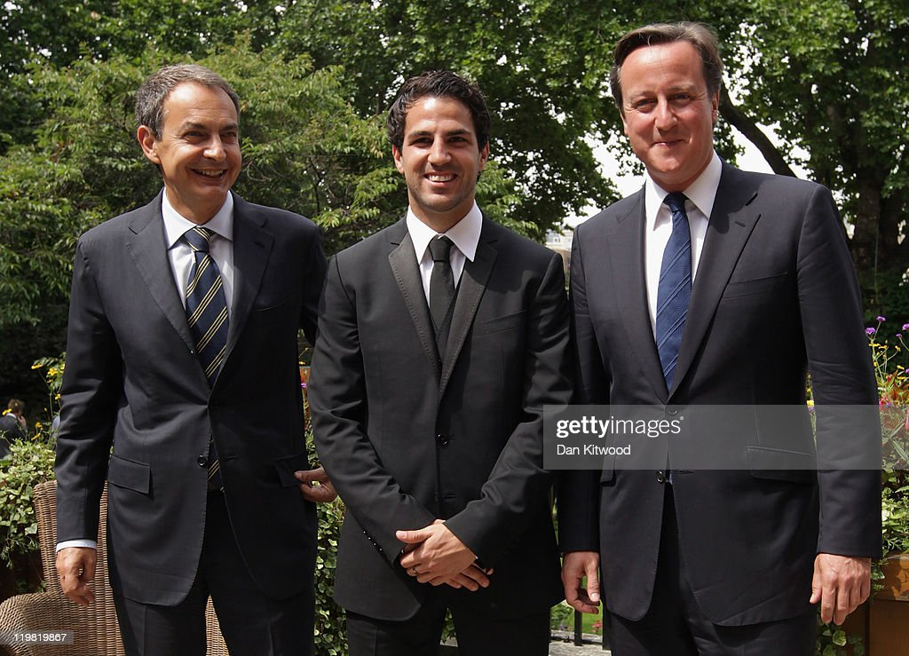 Cesc Fabregas Attends Downing Street With Graduates Of The Street League Football Academy