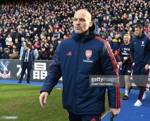 Arsenal assistant coach Freddie Ljungberg before the Premier League match between Crystal Palace and Arsenal FC at Selhurst Park on January 11 2020...
