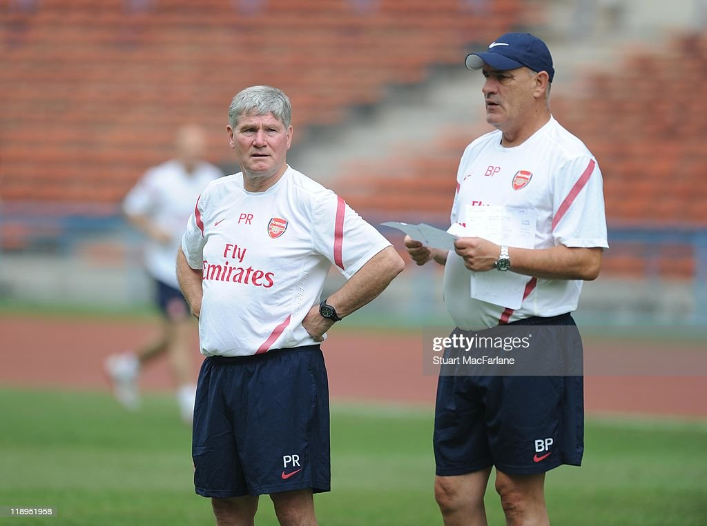 Arsenal FC Training Session In Shah Alam During Tour Of Asia : News Photo