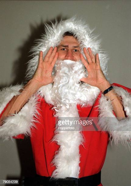 1996 Arsenal captain Tony Adams dressed up as Father Christmas in this feature photograph