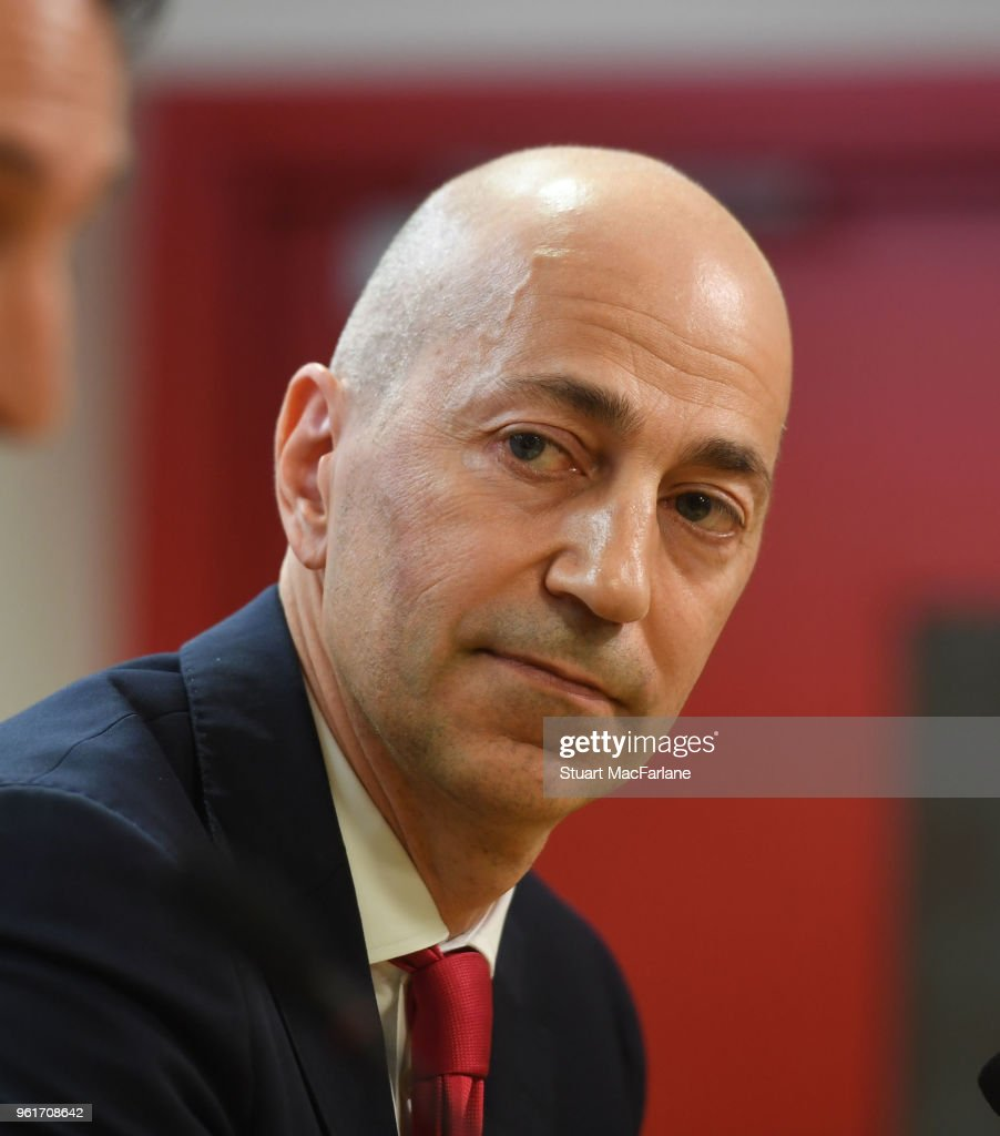 Arsenal CEO Ivan Gazidis attends a press conference at Emirates Stadium on May 23, 2018 in London, England.