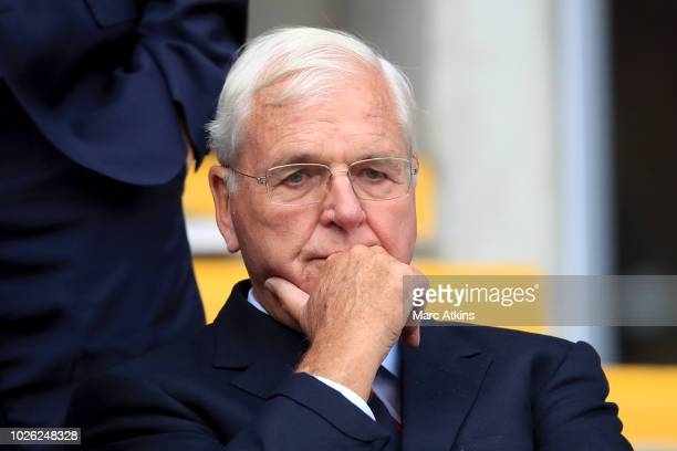 Arsenal Chairman Sir Chips Keswick during the Premier League match between Cardiff City and Arsenal FC at Cardiff City Stadium on September 2, 2018...
