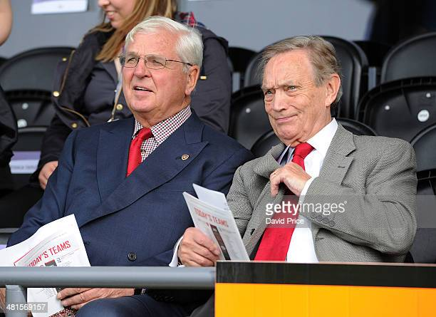 Arsenal Chairman Sir Chips Keswick with Arsenal Director Ken Friar before the match between Arsenal Ladies and Birmingham City Ladies in the UEFA...