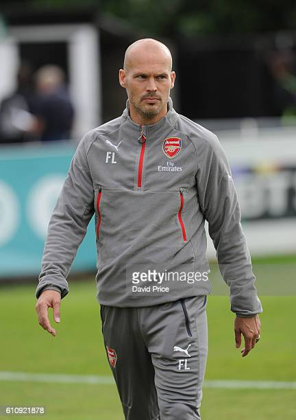 Arsenal coach Freddie Ljungberg before the UEFA Champions League match between Arsenal FC and FC Basel 1893 at Meadow Park on September 28 2016 in...