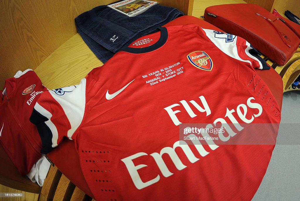 new styles 2892c 8fc4b Arsenal commemorative shirt celebrating 100 years in ...