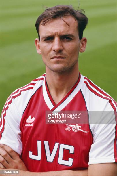 Arsenal defender Steve Bould pictured before the 1988/89 season at Highbury In August 1988 in London England