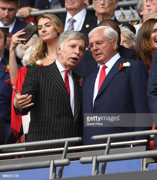 Arsenal Director Stan Kroenke and Arsenal Chairman Sir Chips Keswick before the match between Arsenal and Chelsea at Wembley Stadium on May 27 2017...