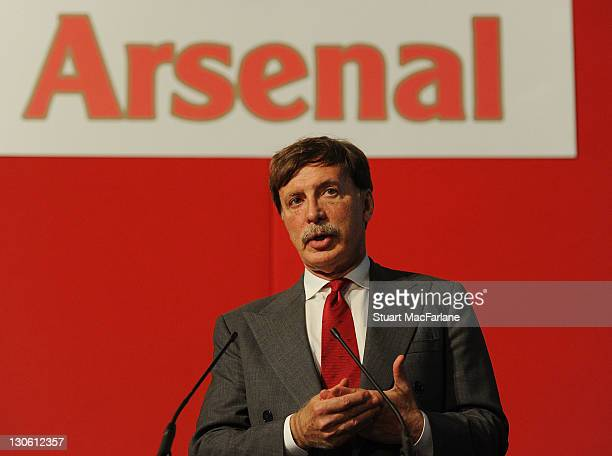 Arsenal director Stan Kroenke during the Arsenal AGM at Emirates Stadium on October 27 2011 in London England