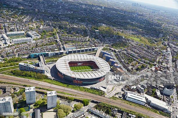 Arsenal Emirates Stadium aerial view